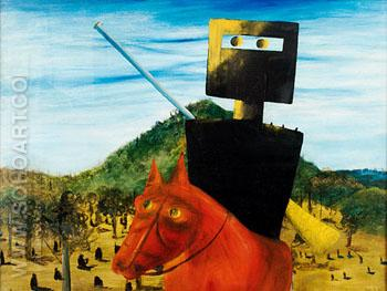 Kelly and Horse 1946 - Sidney Nolan reproduction oil painting