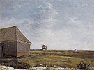 Newmarket Heath with a Rubbing Down House c1765 - George Stubbs reproduction oil painting