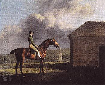 Otho with John Larkin 1768 - George Stubbs reproduction oil painting