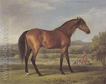 Hollyhock 1766 - George Stubbs reproduction oil painting