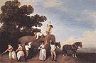 Haymakers 1785 - George Stubbs reproduction oil painting