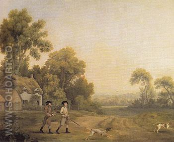 Two Gentleman Going a Shooting 1768 - George Stubbs reproduction oil painting