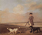 Sir John Nelthorpe 6th Baronet out Shooting with his Dogs in Barton Fields Lincolnshire 1776 - George Stubbs reproduction oil painting