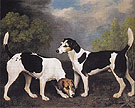 A Couple of Foxhounds 1792 - George Stubbs reproduction oil painting