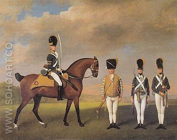 Soldiers of the 10th Light Dragoons 1793 - George Stubbs reproduction oil painting