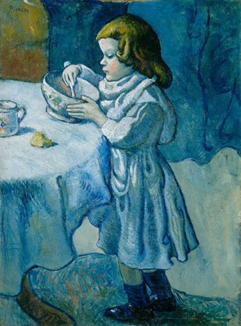Le Gourmet 1901 - Pablo Picasso reproduction oil painting