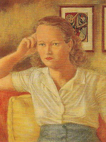 Portrait of Jean c1940 - Elmer Bischoff reproduction oil painting