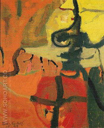 Untitled October 1949 - Elmer Bischoff reproduction oil painting