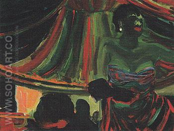 Blues Singer 1954 - Elmer Bischoff reproduction oil painting