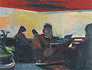 The Waiting Room 1954 - Elmer Bischoff reproduction oil painting