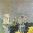 Two Women in a Landscape c1958 - Elmer Bischoff reproduction oil painting