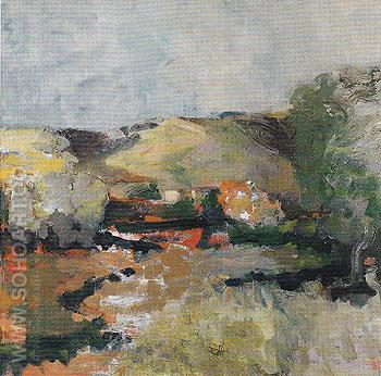 Landscape Afternoon 1959 - Elmer Bischoff reproduction oil painting