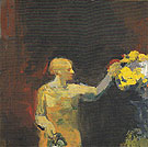 Woman with Yellow Flowers 1958 - Elmer Bischoff