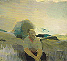 Figure in Landscape c1957 - Elmer Bischoff reproduction oil painting