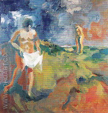Two Bathers 1960 - Elmer Bischoff reproduction oil painting