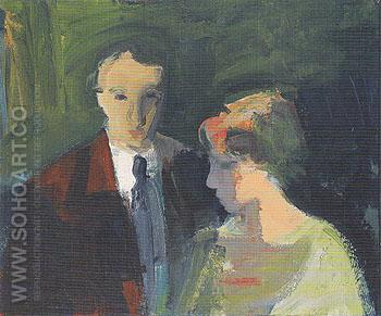 Couple 1960 - Elmer Bischoff reproduction oil painting