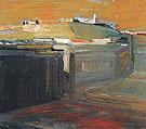 Orange Sky 1958 - Elmer Bischoff reproduction oil painting