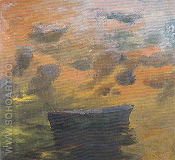Boat and Clouds 1967 - Elmer Bischoff reproduction oil painting