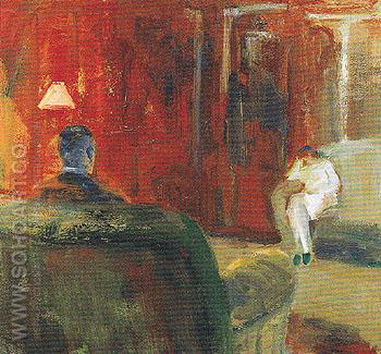 Interior with Two Figures 1965 - Elmer Bischoff reproduction oil painting