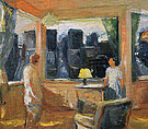 Yellow Lampshade 1969 - Elmer Bischoff