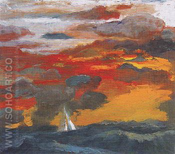 Seascape 1967 - Elmer Bischoff reproduction oil painting