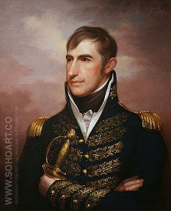 Portrait of William Henry Harrison c1813 - Rembrandt Peale reproduction oil painting