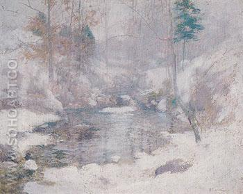 Winter Harmony c1890 - John Henry Twachtman reproduction oil painting