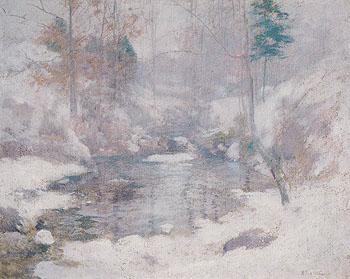 Winter Harmony c1890 - John Henry Twachtman reproduction oil painting