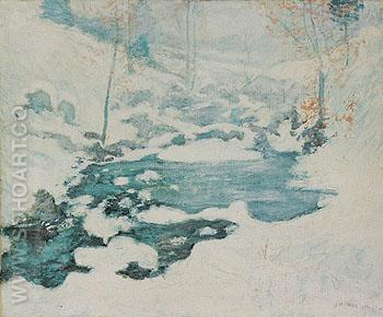Icebound c1889 - John Henry Twachtman reproduction oil painting