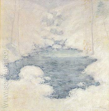 Winter Silence c1890 - John Henry Twachtman reproduction oil painting