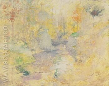 Hemlock Pool Autumn c1894 - John Henry Twachtman reproduction oil painting