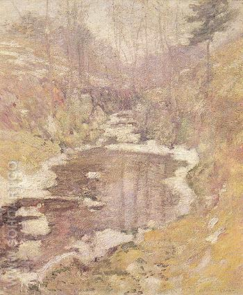Hemlock Pool c1900 - John Henry Twachtman reproduction oil painting