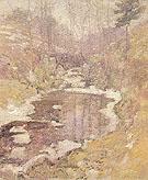 Hemlock Pool c1900 - John Henry Twachtman reproduction oil painting