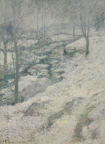 Frozen Brook c1893 - John Henry Twachtman reproduction oil painting