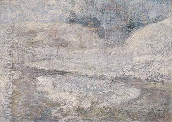 The Brook Greenwich Connecticut c1890 - John Henry Twachtman reproduction oil painting