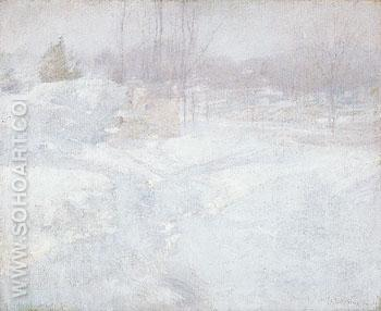 Winter c1890 - John Henry Twachtman reproduction oil painting