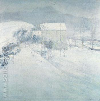 Snow c1895 - John Henry Twachtman reproduction oil painting