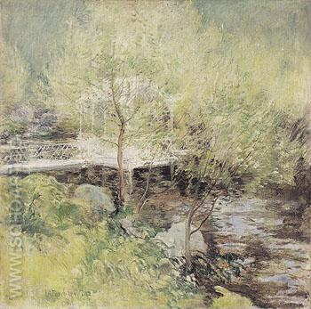 The White Bridge c1889 - John Henry Twachtman reproduction oil painting