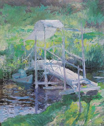 The White Bridge c1900 - John Henry Twachtman reproduction oil painting