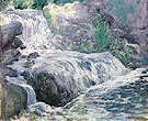 Waterfall Blue Brook c1899 - John Henry Twachtman
