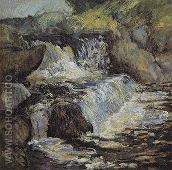The Cascade 1890 - John Henry Twachtman reproduction oil painting