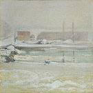 View from the Holley House Winter c1901 - John Henry Twachtman