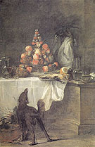 The Buffet 1728 - Jean Simeon Chardin reproduction oil painting