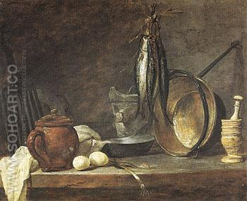 The Fast Day Meal 1731 - Jean Simeon Chardin reproduction oil painting