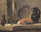 Still Life with Herrings c1731 - Jean Simeon Chardin reproduction oil painting