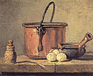 Copper Cauldron with Three Eggs 1734 - Jean Simeon Chardin reproduction oil painting