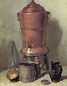 The Copper Water Urn c1734 - Jean Simeon Chardin