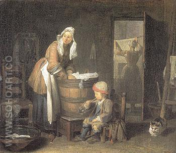 The Laundress 1733 - Jean Simeon Chardin reproduction oil painting