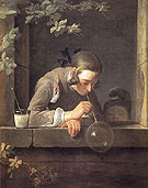 Soap Bubbles c1733 - Jean Simeon Chardin reproduction oil painting