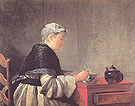 Lady Taking Tea 1735 - Jean Simeon Chardin
